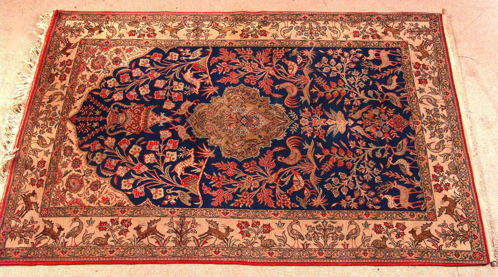 Bgw remate 241 alfombra gek htm gendata for Alfombra persa azul